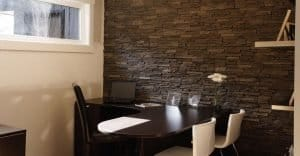 faux stone office