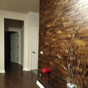 walnut mosaic wood panels