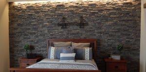 stone bedroom walls