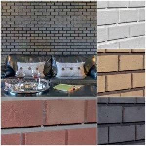 faux modern brick