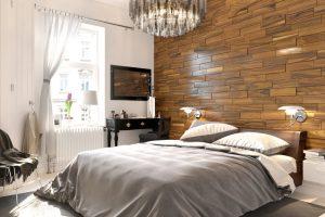mosaic wood bedroom