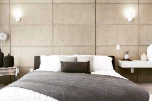 faux concrete bedroom